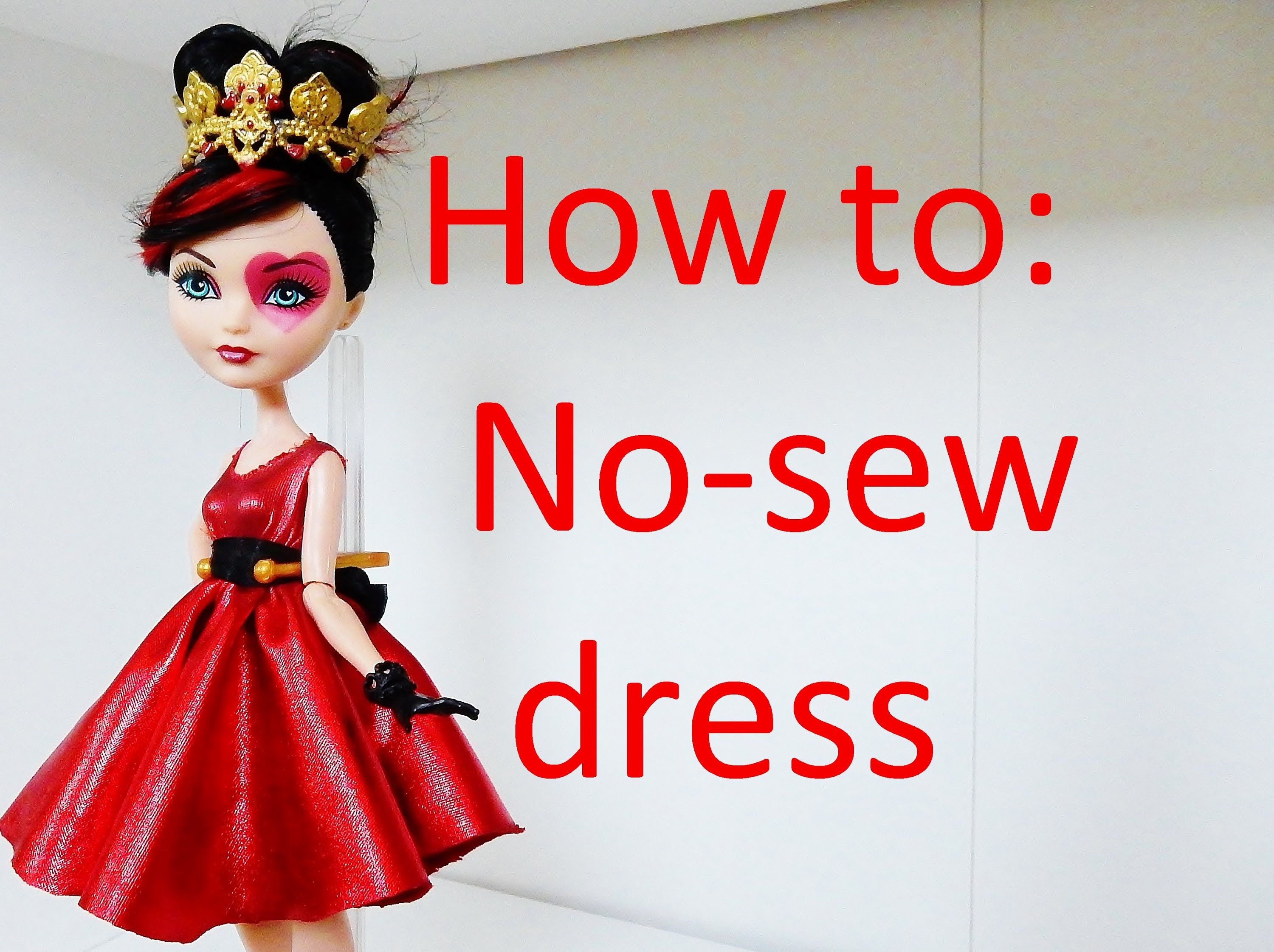 Clothes tutorial easy no sew dress for your ever after high dolls clothes tutorial easy no sew dress for your ever after high dolls by ea bankloansurffo Choice Image