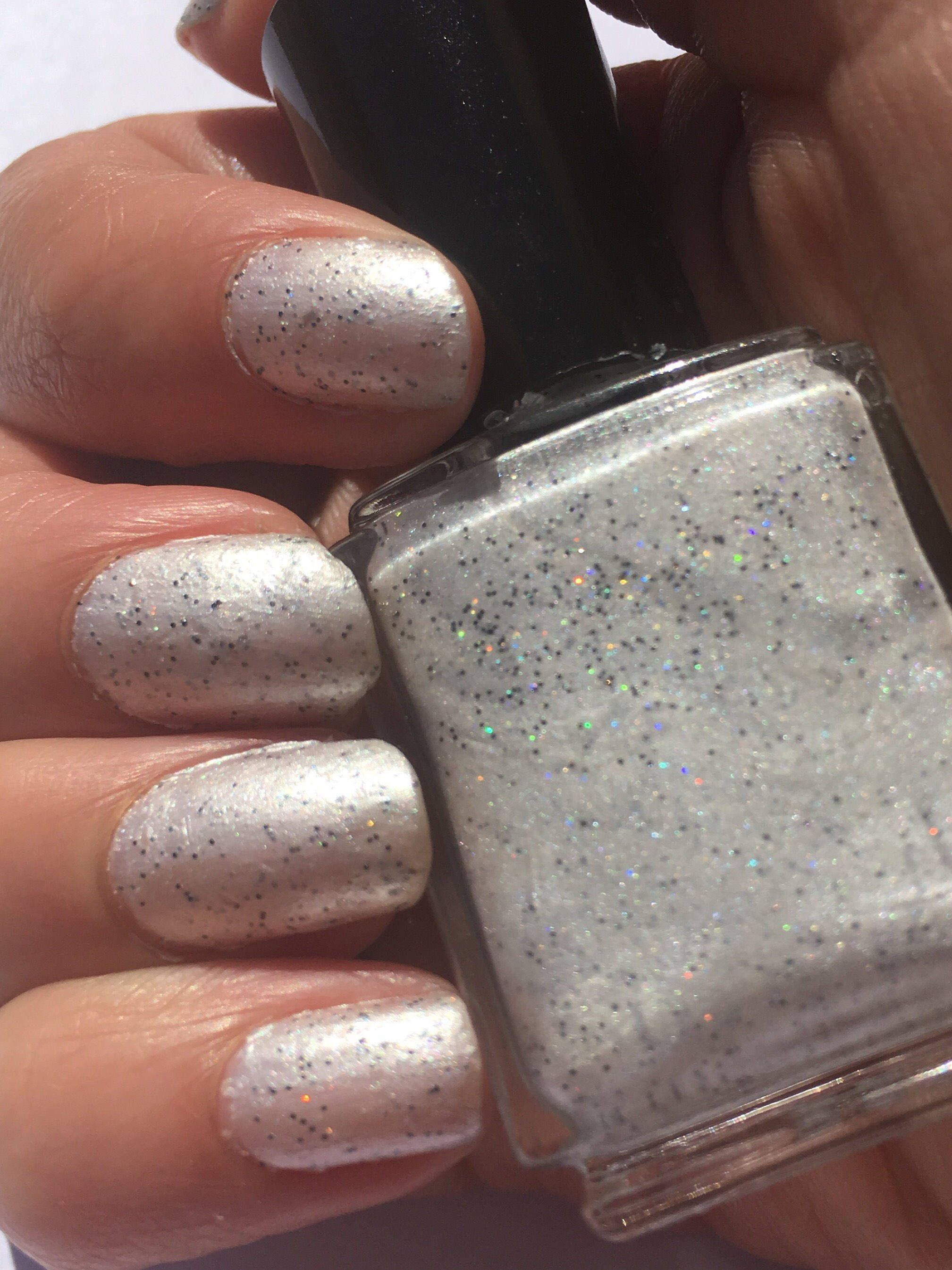Cookies N Cream White Glitter Nail Polish By Magpiecosmetics On Etsy Https
