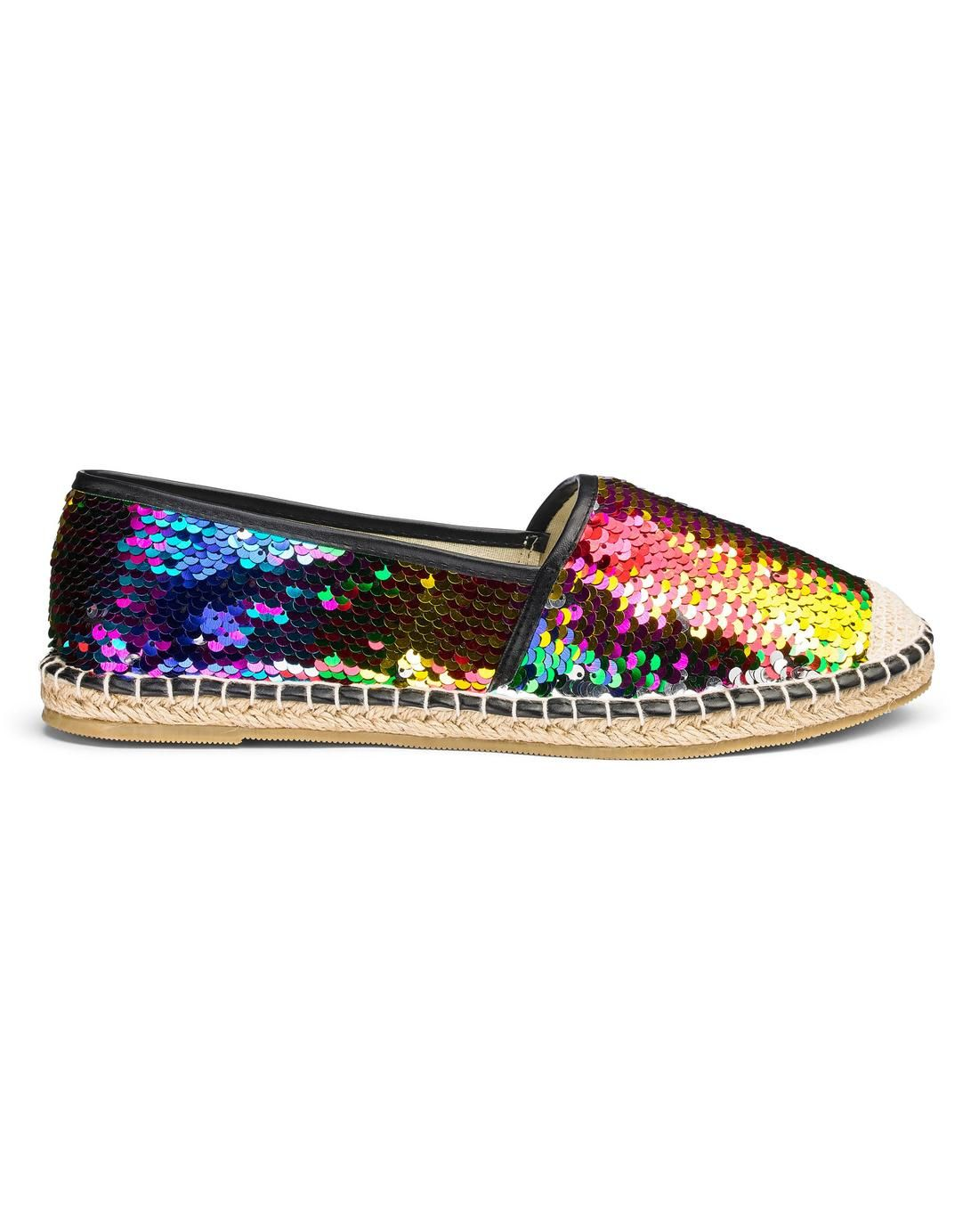Womens Emily Glitter Espadrille Simply Be