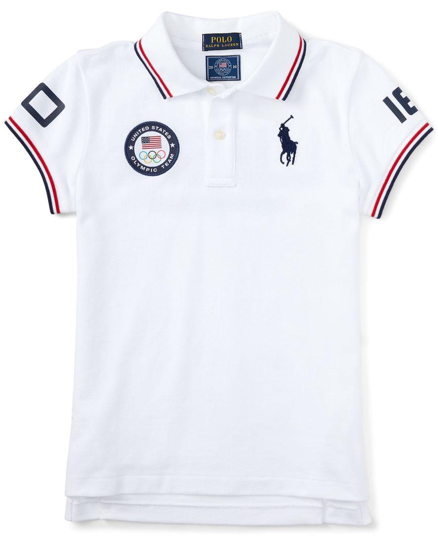 ee5b317b8 Ralph Lauren Little Boys' Graphic Polo Shirt | boys in 2019 | Polo ...
