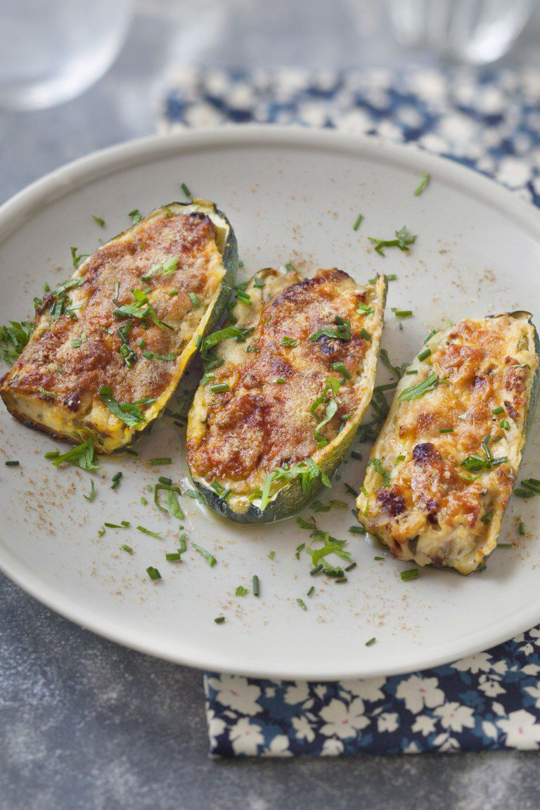 Zucchini stuffed with ricotta and bacon -  Zucchini stuffed with ricotta and bacon  - #bacon #GlutenFree #Protein #ricotta #stuffed #VeganRecipes #zucchini