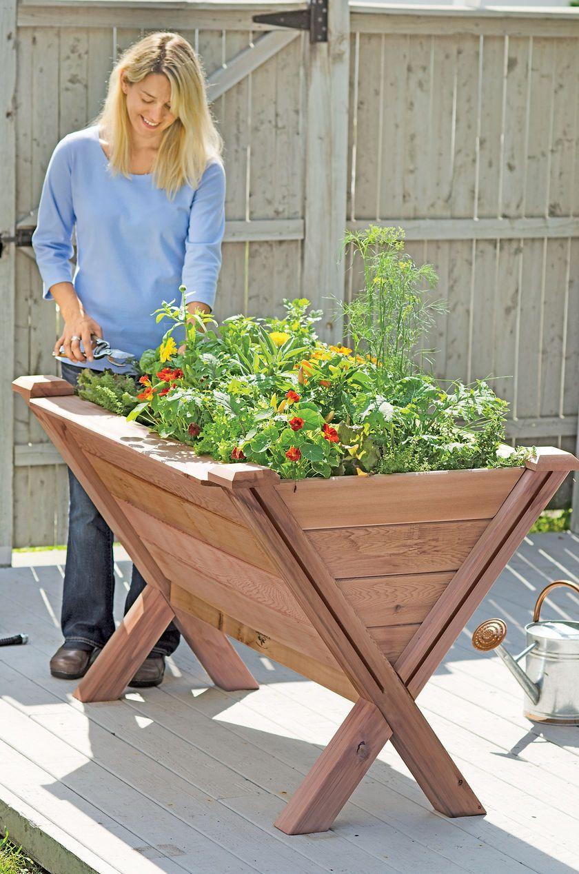 Raised Patio Garden Box