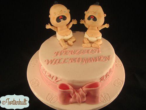 Tauftorte Zwillinge Mädchen