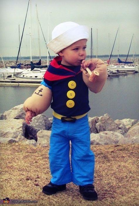 Popeye Kostüm selber machen #toddlerhalloween