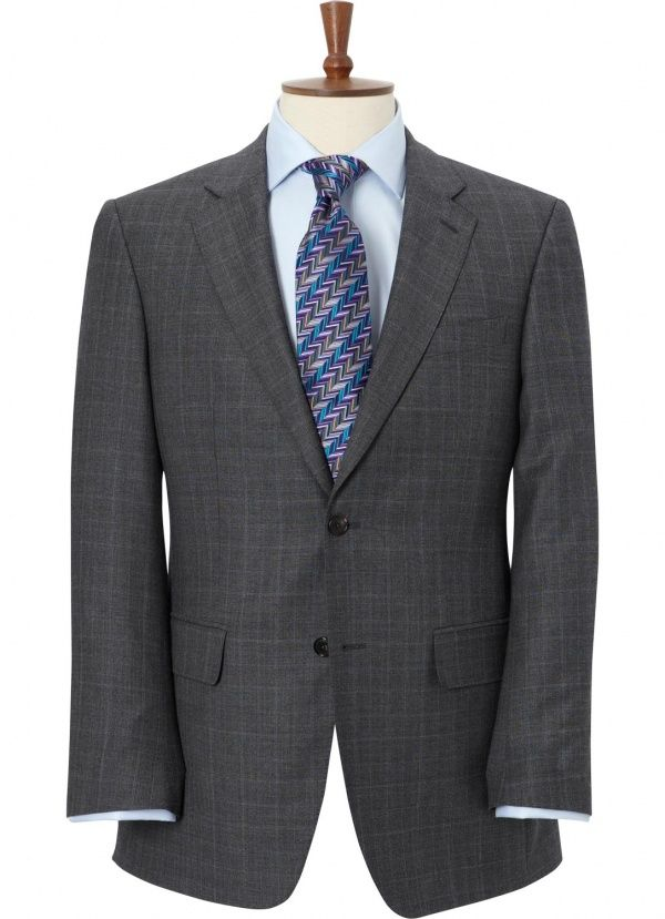 Austin Reed Classic Fit Prince Of Wales Check Two Button Suit Suits Prince Of Wales Suit Jacket