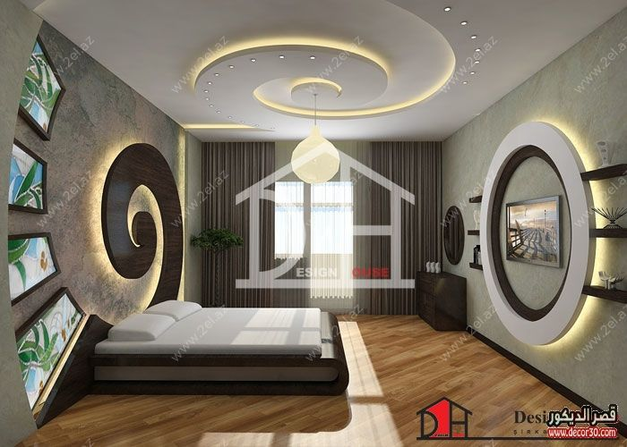 اسقف جبس غرف نوم رئيسية Gypsum Ceiling Master Bedroom قصر الديكور Bedroom False Ceiling Design False Ceiling Design False Ceiling
