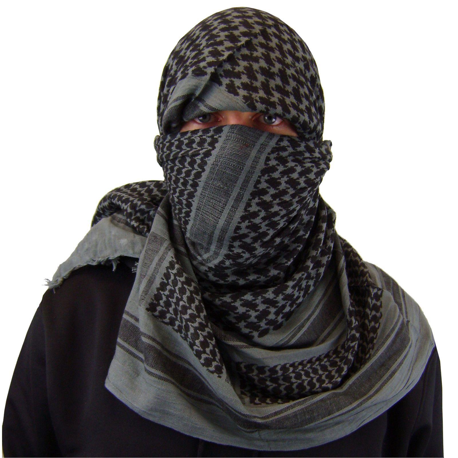 Shemagh Head Scarf Military Army Head Cover Tassels Arab Kafiya Keffiyah Web-tex