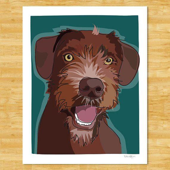 Custom Pet Portrait Modern Dog Art By Popdoggie On Etsy 75 00 Dog Art Custom Dog Portraits Custom Dog