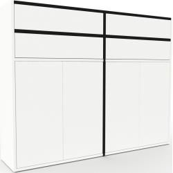 Photo of Aktenschrank Weiß – Büroschrank: Schubladen in Weiß & Türen in Weiß – Hochwertige Materialien – 152