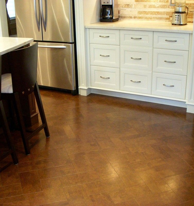 cork floor kitchen cabinets design software herringbone kitchens pinterest