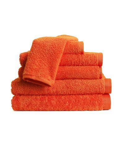 Tangerine Tango Towels Orange Bath