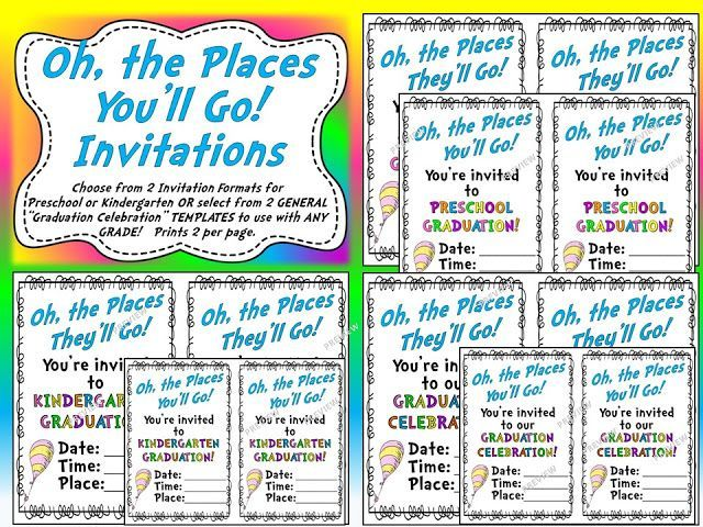 Photo customized invitation choices included in the Oh, the - invitation formats