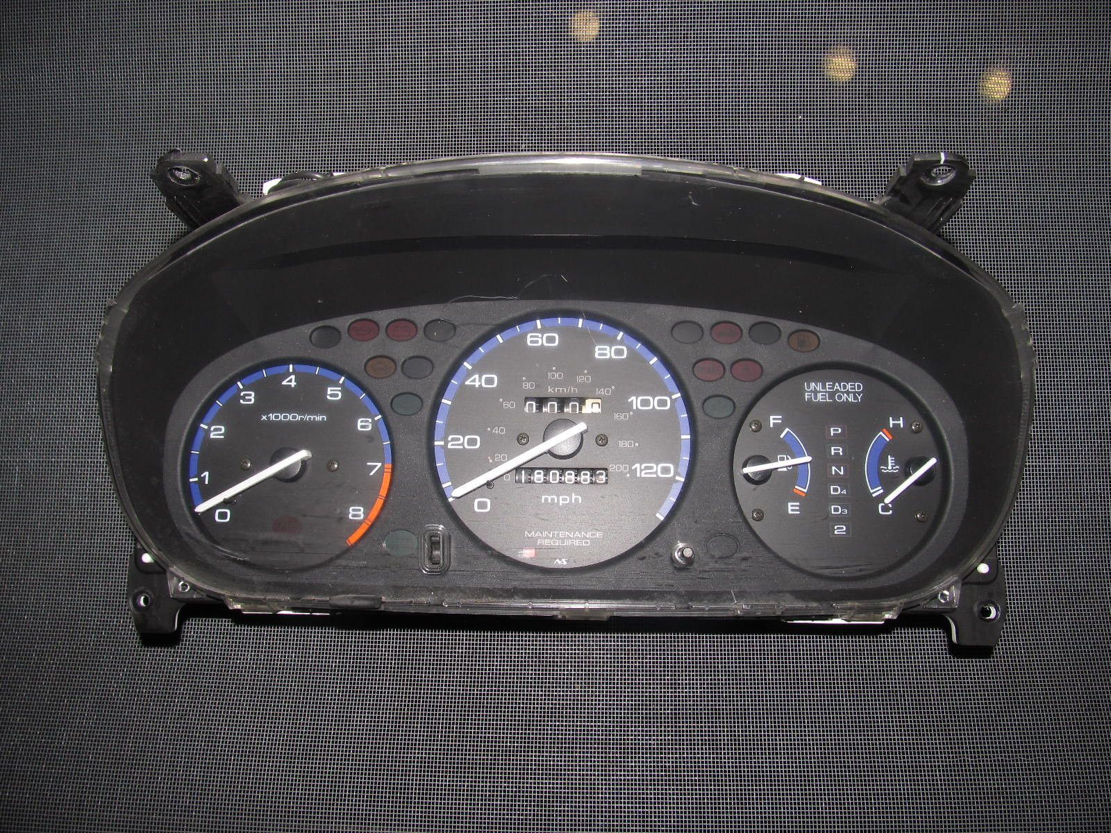 96 97 98 99 00 Honda Civic D16y8 Oem Speedometer Gauge Honda Civic Civic 2000 Honda Civic
