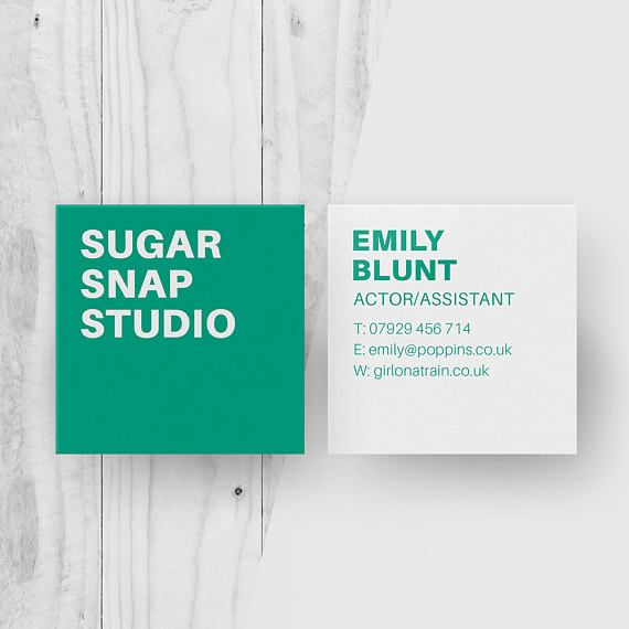 Minimalist Square Business Cards, Customised Name Card, Modern - office supply template
