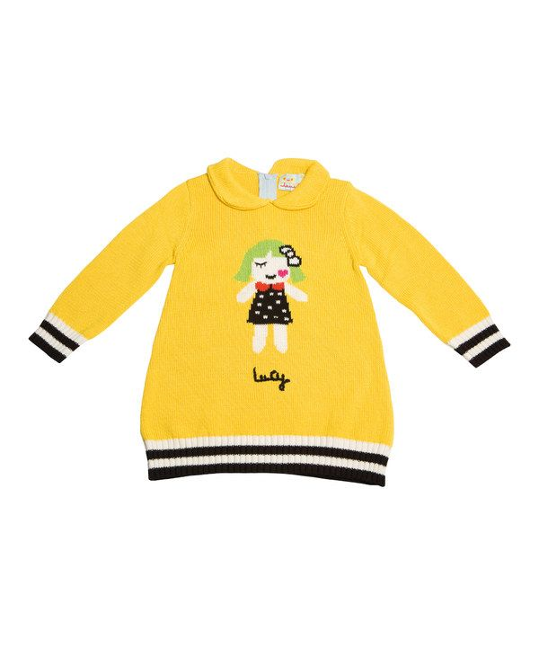 Look at this Lourdes Yellow My Doll Dress - Infant