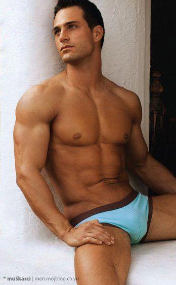 Men's swim trunks on Marco Dapper