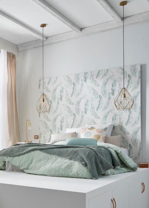 Papier Peint Vinyle Sur Intisse Palme Vert En 2020 Deco Chambre