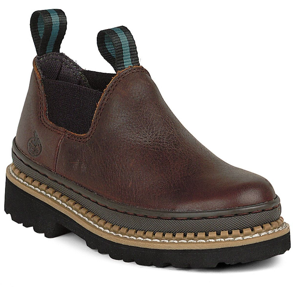 Georgia Kids Boys Soggy Brown Leather Little Giant Romeo Slip On ...