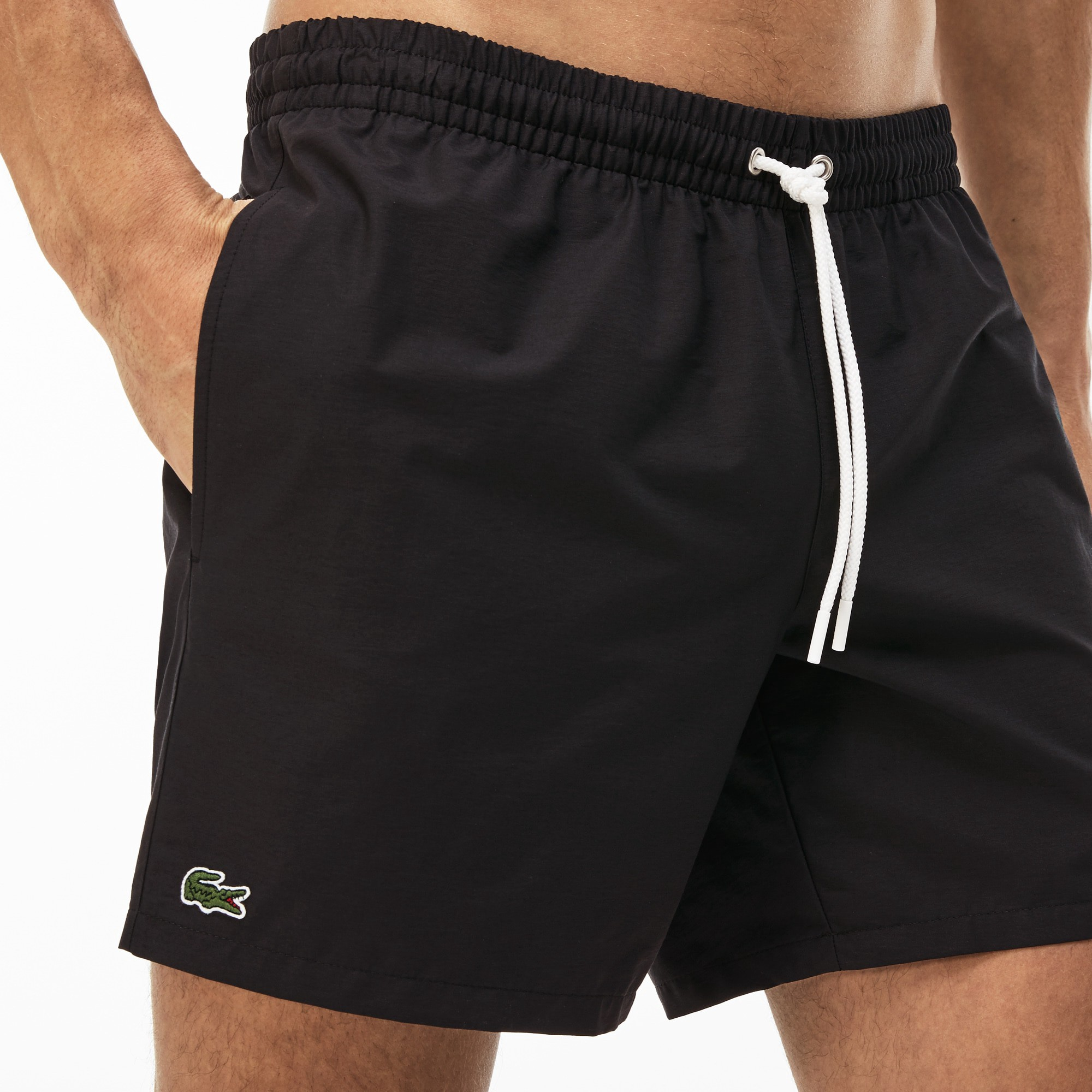 f47832919d757 Lacoste Men's Taffeta Swim Trunks - Black/Navy L Green | Products ...