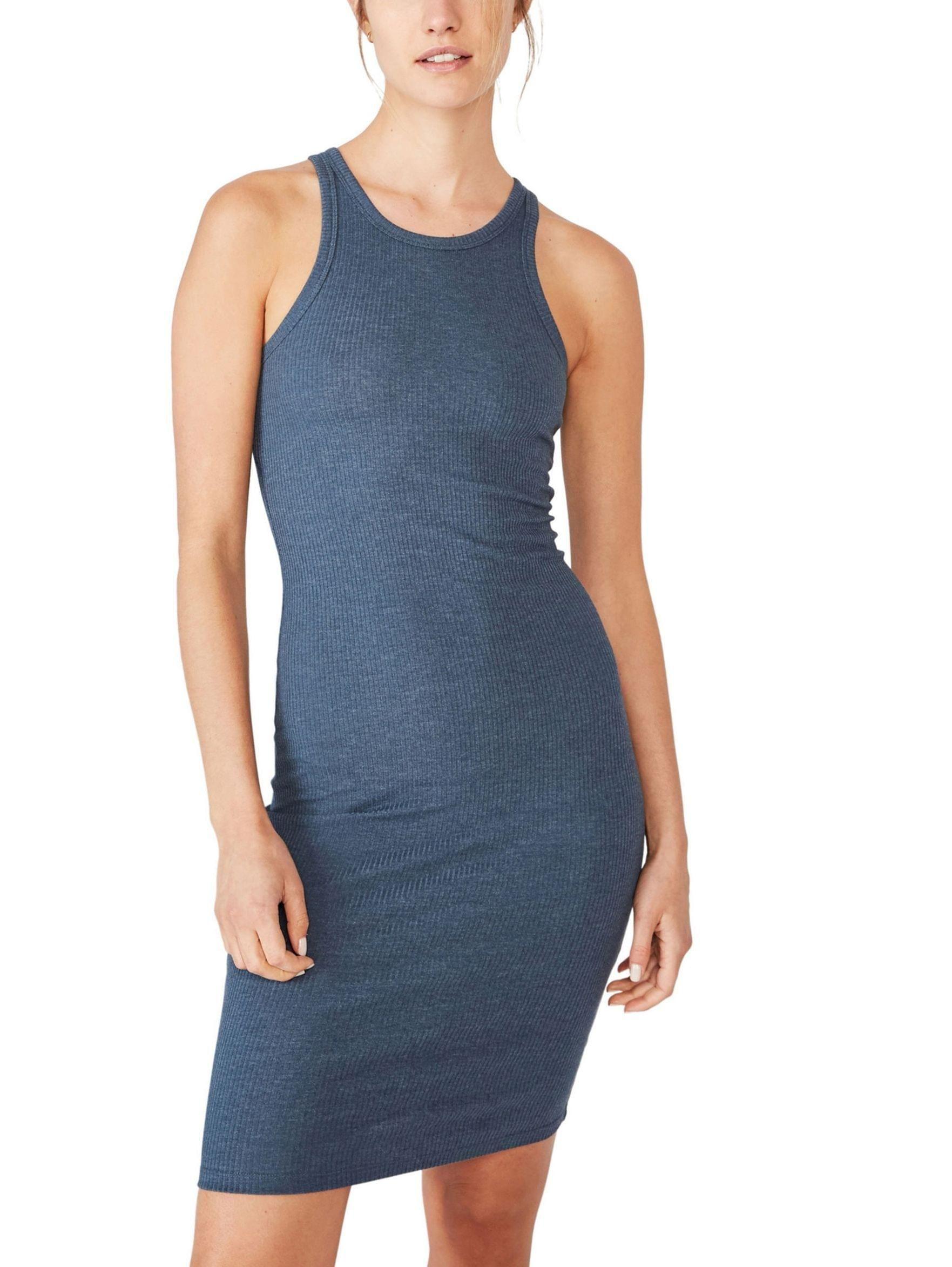 Women Kirsty Racerback Bodycon Midi Dress 24 Dresses Knitted Bodycon Dress Blue Midi Dress [ 2345 x 1763 Pixel ]