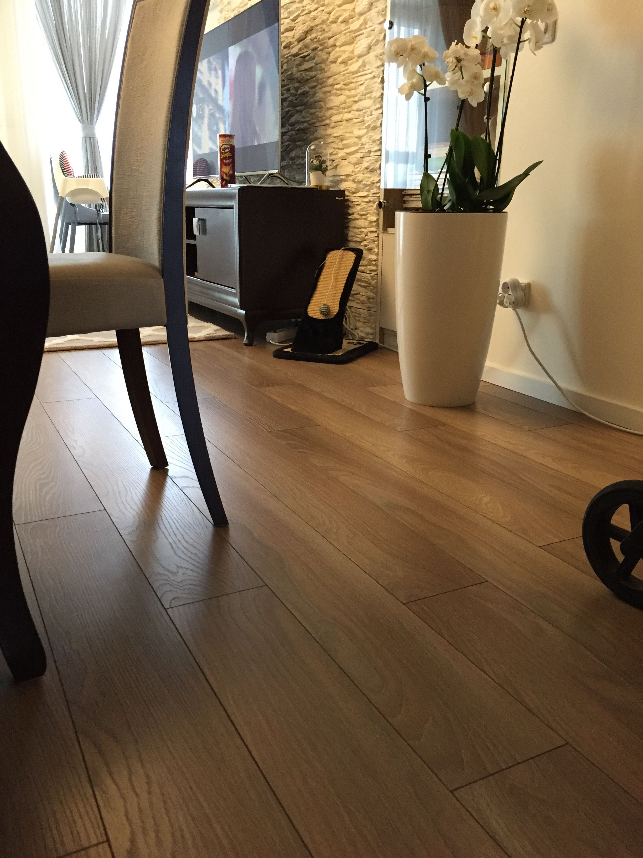 Engineered oak wooden floors, light smoked oak, brushed and 3 coats of hard- wax oil. Suitable for commercial and residential installations.