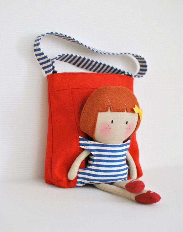 my teenytiny doll hannah u0026 carryme tote bag set