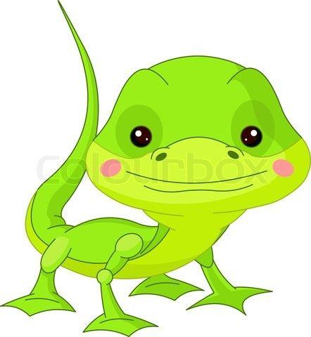 vector of fun zoo lizard on colourbox critter clip art rh pinterest ca lizard clip art green lizard clip art outline