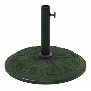 International Caravan Resin Compound Roman Numeral Umbrella Stand (Forest Green), Dark Green(Synthetic Fiber)