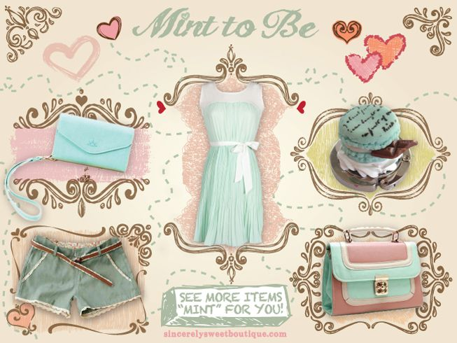"Check out our new ""Mint to Be"" Collection if you love mint as much as we do! www.sincerelysweetboutique.com"