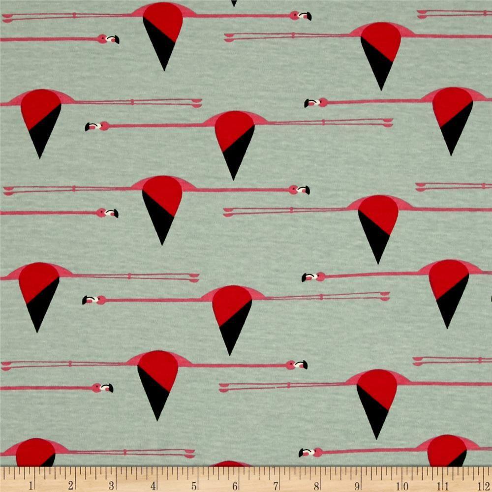 Designed by Charley Harper for Birch Fabrics, this interlock knit ...