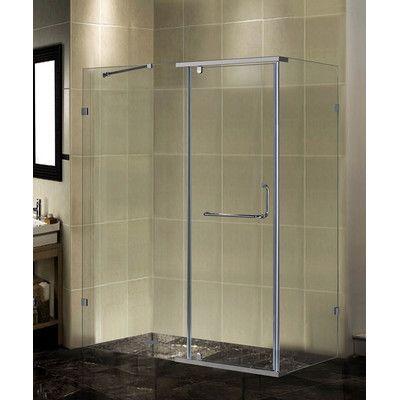 Aston Aston 60 X 75 Pivot Semi Frameless Shower Door Rectangular Shower Enclosures Frameless Shower Enclosures Shower Doors