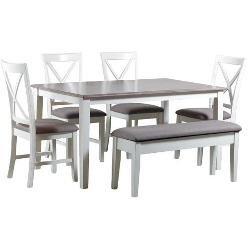 Amaury 6 Piece Dining Set Dining Set With Bench Dining Room