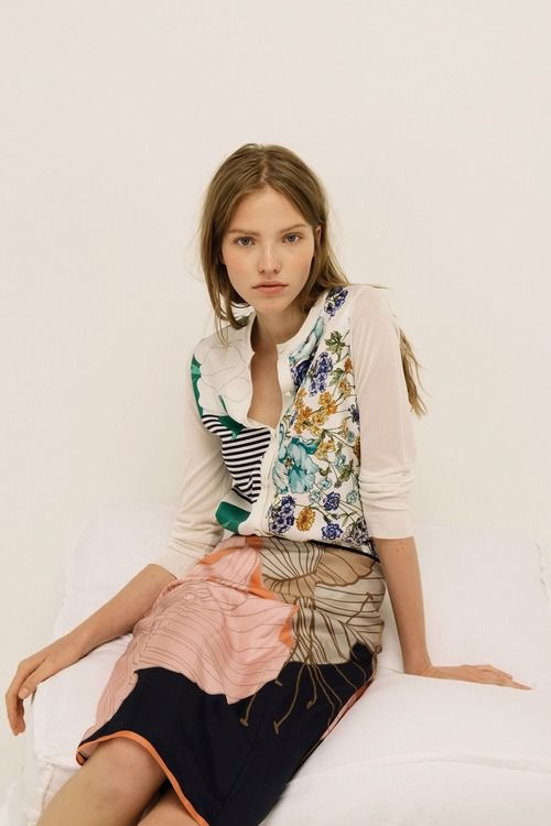 6b483ba6b3 Sasha Luss For Nina Ricci Resort 2014 (Journal de la Mode)