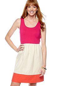 Color Block Spring Dress from Belk, $72