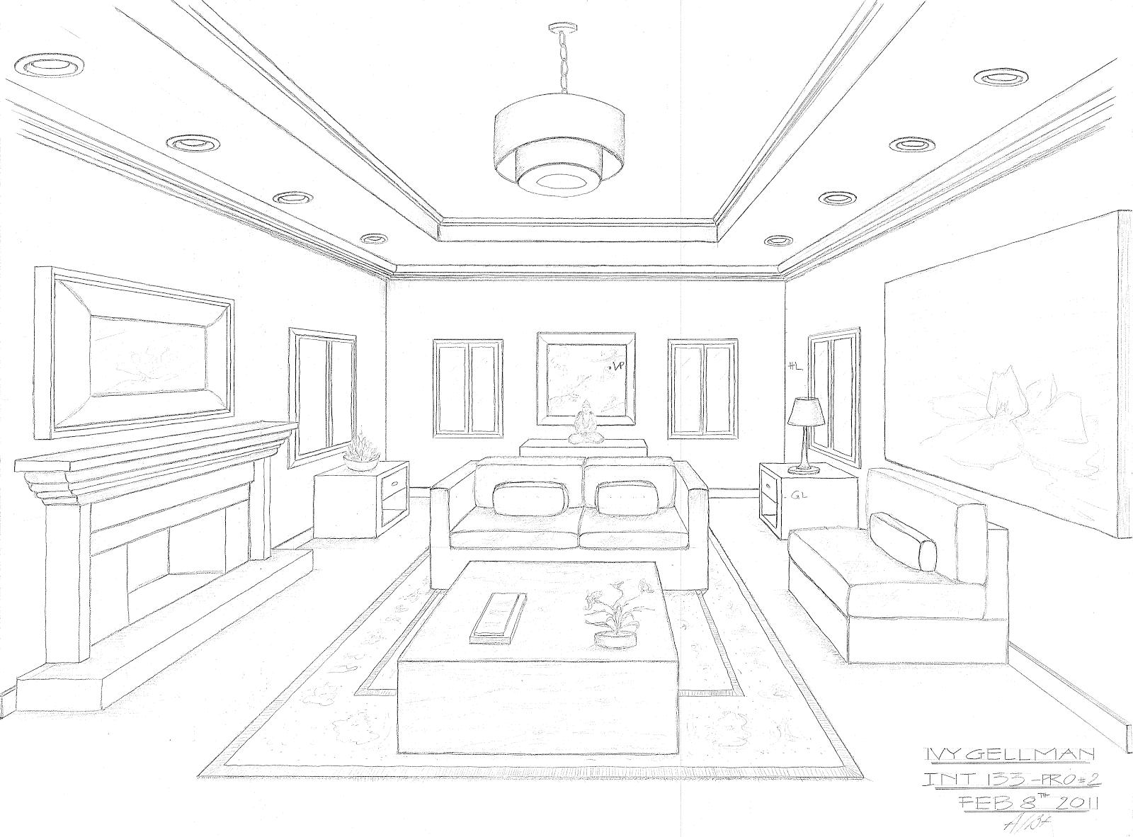 Living Room Png 1600 1182 3d Sekiller Perspektif Ic Mekan