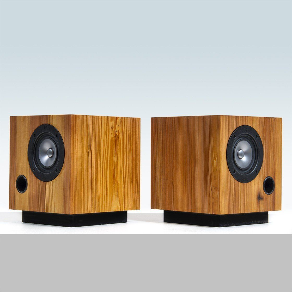 The Cube Speakers In Heart Pine Fern & Roby High