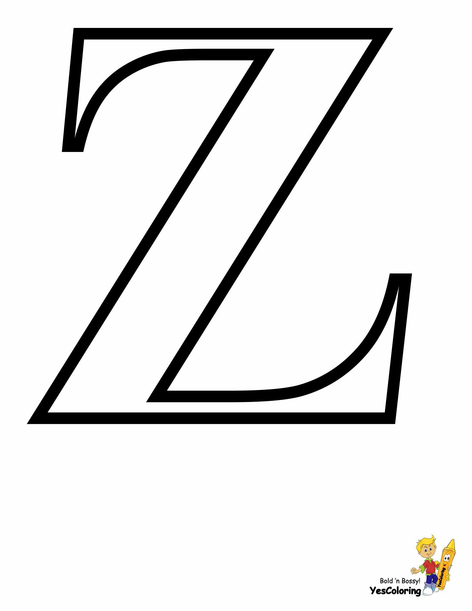 Print Out This Timeless Alphabet Coloring Sheet Off Letter Z Wow Https Www Yescoloring Com Alphabet Color I Alphabet Coloring Letter Z Printable Letters