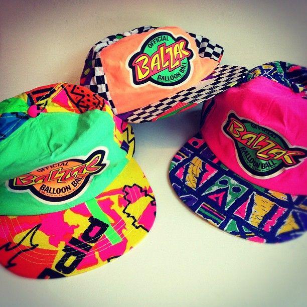 Fresh Prince style neon 90s hats     www.art-by-ken.com  f556a56ff49