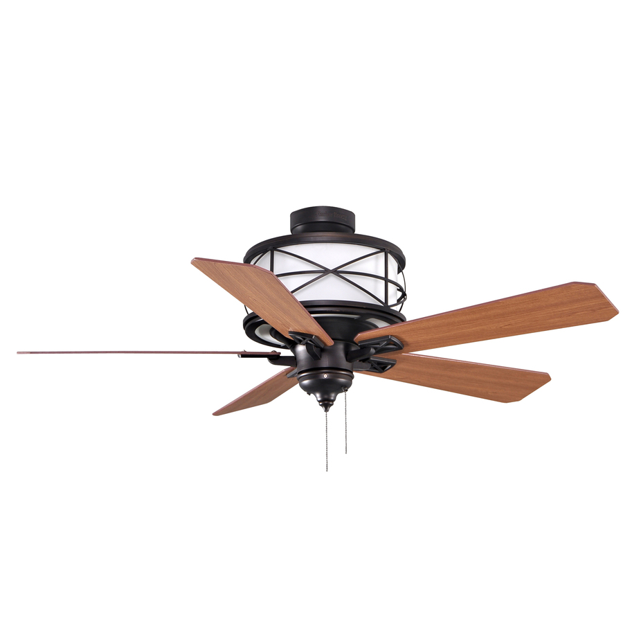 Shop allen + roth 52in Sonning Aged Bronze Ceiling Fan