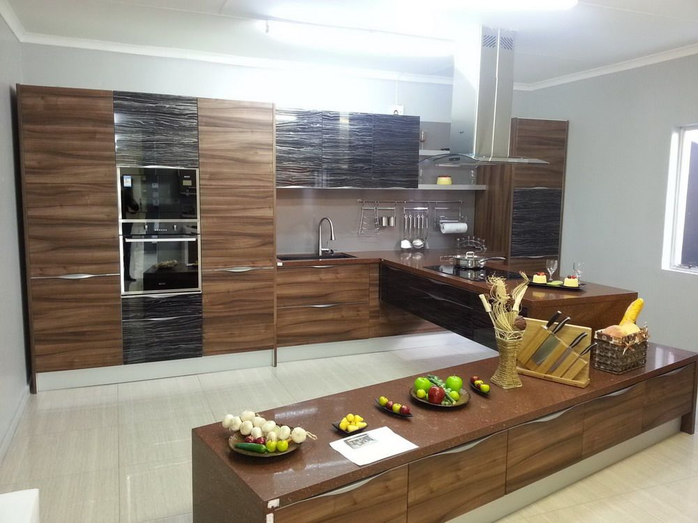 High gloss pvc kitchen cabinet | OPPEIN South Africa Showroom ...