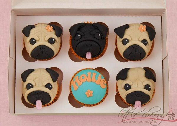 Fondant Dog Cupcake Toppers Google Search With Images Pug