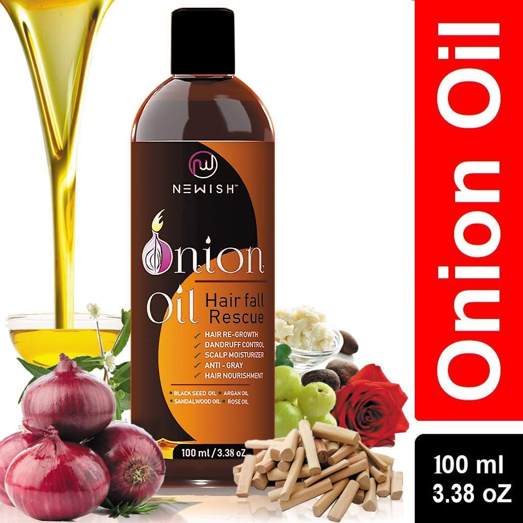Newish Red Onion Hair Oil for Hair Regrowth Men and Women