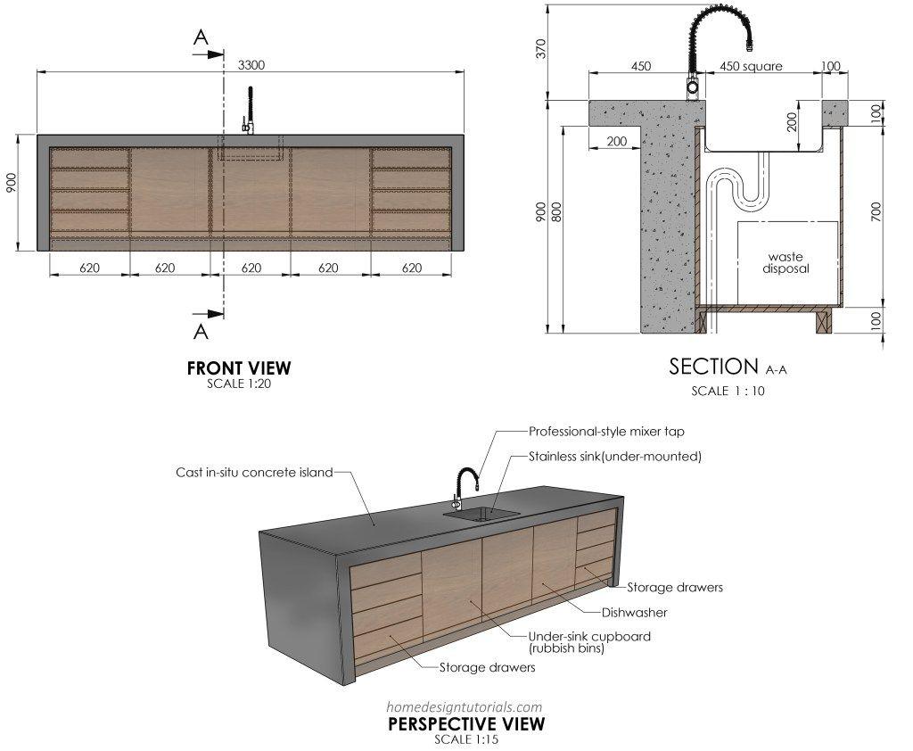 Kitchen Design Principles   Home Design Tutorials   Projeto moveis ...
