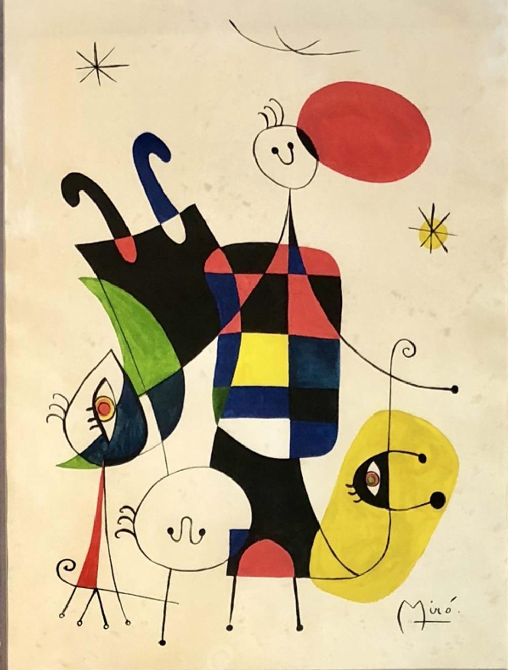 Joan Miro Mixed Media On Paper V 6 500 Joan Miró Para Niños Joan Miro Pinturas Cuadros De Joan Miro