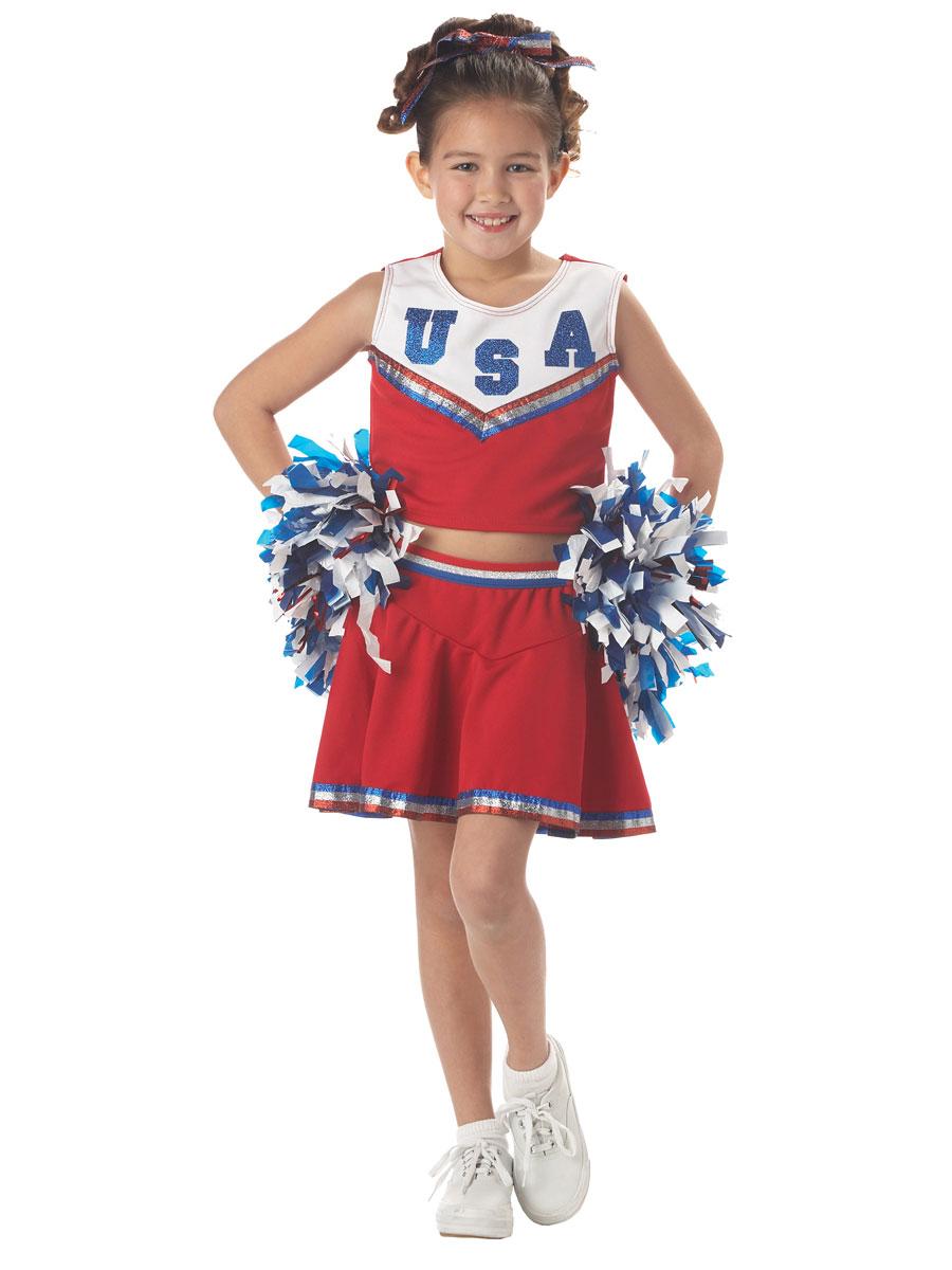 Ragazze High School Blu Cheerleader Bambini Fancy Dress Costume Vestito di uniforme