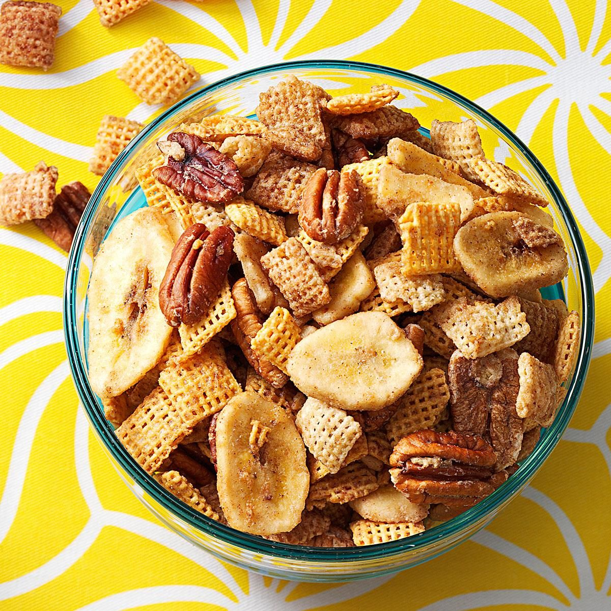 Bananas Foster Crunch Mix Recipe Snacks Chex Mix Recipes Recipes