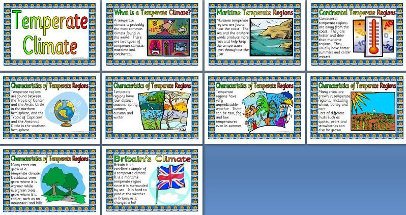 Geography posters ks2 world climates temperate climates world geography posters ks2 world climates temperate climates world climate temperate climate posters 10 posters that look at features of temperate regions gumiabroncs Image collections
