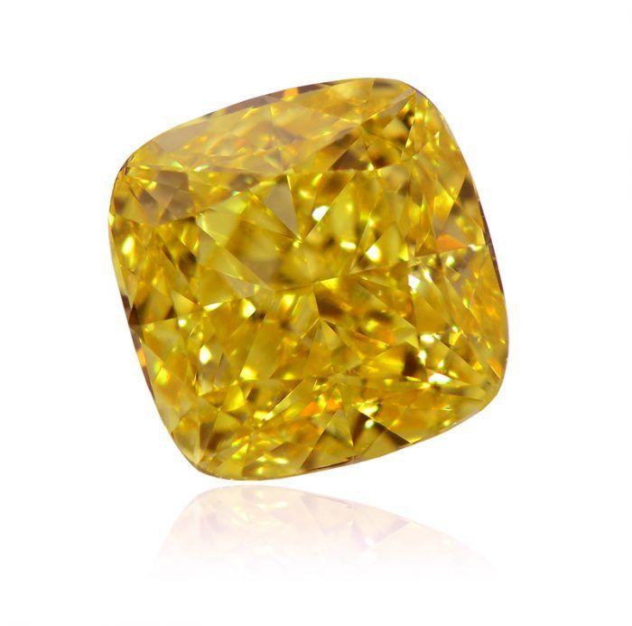 What is the undertone of this vivid yellow diamond?