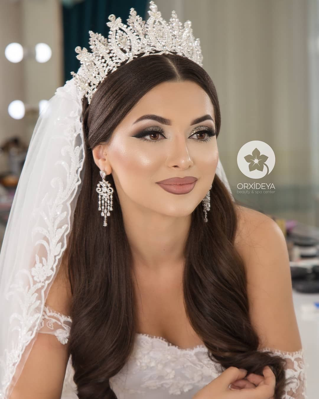 Wedding Hairstyle And Makeup: Bride Tiara, Bridal Hair, Bride Makeup