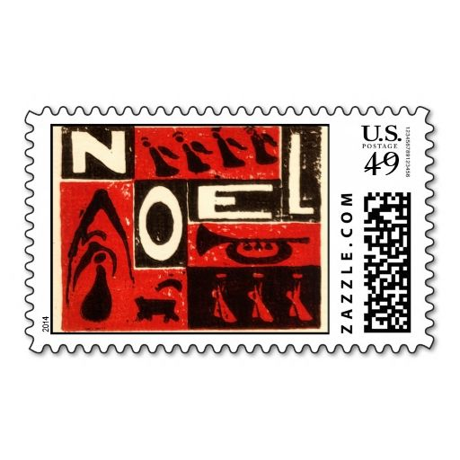 Noel Red Postage. Make your own business card with this great design. All you need is to add your info to this template. Click the image to try it out!